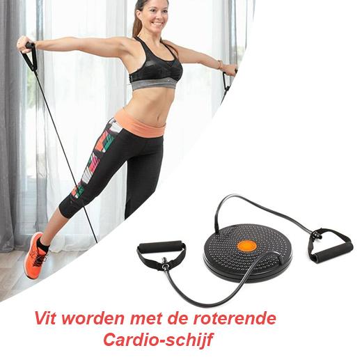 Fit worden met de roterende Cardio-schijf met Oefeningengids