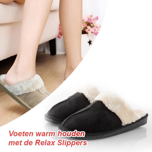 Houd je voeten lekker warm met deze warme Relax Slippers