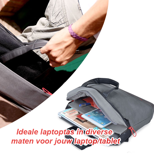 Ideale laptoptas in diverse maten voor jouw laptop/tablet