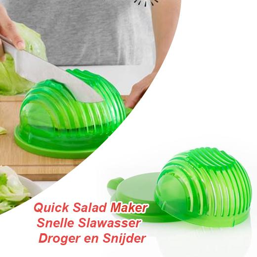 Quick Salad Maker Snelle Slawasser - Droger en Snijder