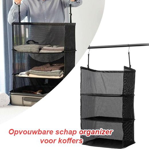 Handig en Praktisch Gadget Travel opvouwbare schap organizer voor koffers