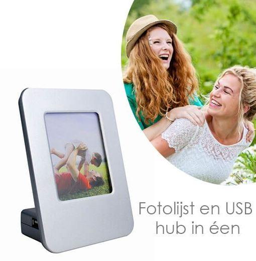 Unieke fotolijst en USB hub (4-poorts) ineen