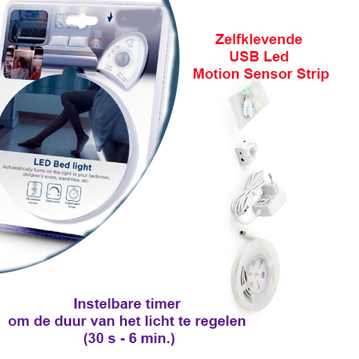 Zelfklevende USB Led Motion Sensor Strip