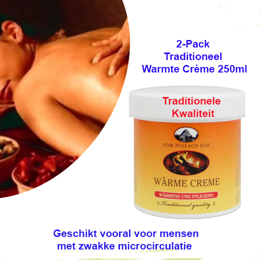 2-Pack Traditioneel Warmte Creme 250ml